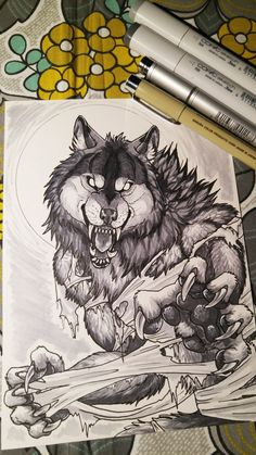 Snarly Werewolf - Copic Markers by sugarpoultry.deviantart.com on @DeviantArt