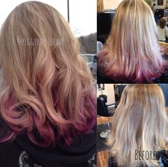 Orchid, magenta, and lots of blonde!