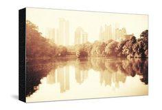 Midtown Atlanta Reflected in the Lake Photographic Print by Giorgio Fochesato at Art.com