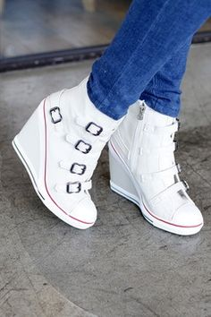 High heel sneakers are so in right now.