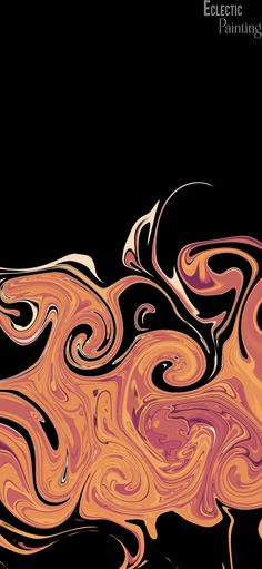 Download Free HD iPhone Wallpaper With Abstract Orange Swirls