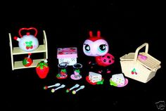 Custom LPS Littlest Pet Shop Ladybug Playset with Strawberry Accessories Lots of Fun Perfect Size for Barbie Dolls too