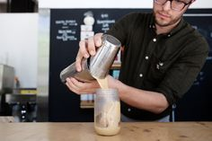 Almond and Macadamia Nut Milk - Recipes - The New York Times. Iced Coffee recipe from G & B Coffee, which NY Times says may be the best in the country.
