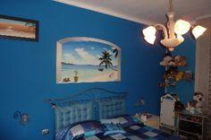 """ambientazione trompe l'oeil """"pace tropicale""""   cm 90x150   www.panizza.info"""