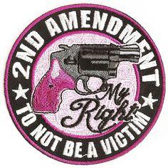 second amendment right apparel pink | 2nd Amendment Patch