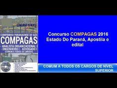 Edital Apostila Concurso Público  [ COMPAGAS 2016 PR ]