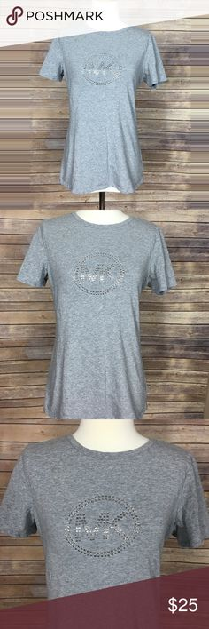 MIchael Kors shirt Like new Michael Kors grey women tshirt. No rips or stains and the fabric of course feels fine stretchy. Messurements are  Bust: 20.5in  Length: 26in MICHAEL Michael Kors Tops Tees - Short Sleeve