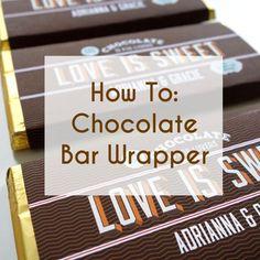 Chocolates personalizados. Cómo hacer recuerdos para boda súper originales