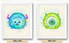 Mike Wazowski Monsters University Art Print par NeighborArts