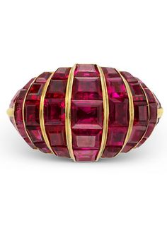Art Deco Ruby Cocktail Ring, Circa 1930