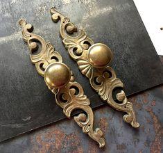 Pulls Door / Drawer VINTAGE Ornate Furniture / Cabinet Back