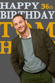 Tom Hardy . It's Happy Birthday picture feast  today :-)