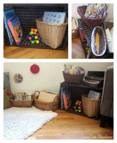 Intentional Learning Spaces | Reading Spaces for babies, toddlers, and beyond. Love the simplicity