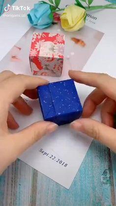 Instruções Origami, Paper Crafts Origami, Easy Paper Crafts, Diy Paper, Origami Ring, Diy Crafts Hacks, Diy Crafts For Gifts, Fun Crafts, Crafts For Kids