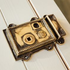 A solid brass rim latch, hand aged for a truly authentic look. The latch has a Regency design, complete with beading around it's edges. Each set is supplied with thumb privacy bolt, and keep. Modern Georgian, Regency, Solid Brass, Design