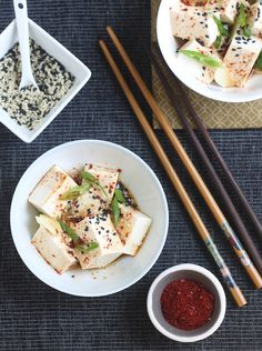Korean Chili Chilled Tofu