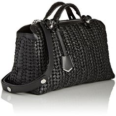 Fendi Women's By The Way Satchel ($4,750) ❤ liked on Polyvore featuring bags, handbags, satchel style handbag, handle satchel, fendi handbags, satchel handbags and woven purses