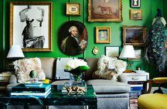 Home Tour: A Jewel-Toned Upper East Side Townhouse | DomaineHome.com
