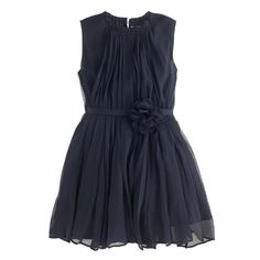 Girls' crinkle chiffon rosette dress A Very Secret Pinterest Sale: 25% off any order at jcrew.com for 48 hours with code SECRET.