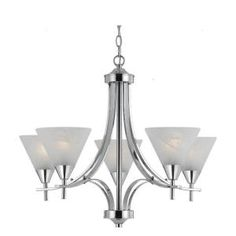 Illumine 5-Light Ceiling Chrome Incandescent Chandelier-CLI-TR33323 at The Home Depot