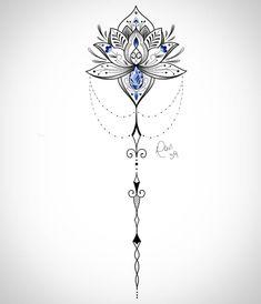 Feminine Back Tattoos, Dainty Tattoos, Small Tattoos, Mandala Tattoo Back, Swirl Tattoo, Tattoo Designs Foot, Floral Tattoo Design, Wanderlust Tattoos, Back Tattoo Women Spine