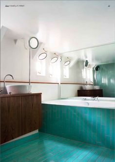 turquoise tiles by evit