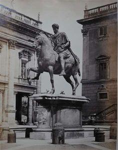 1865 circa De Bonis Adriano (attr.) Campidoglio- statua di Marco Aurelio.