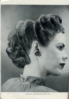 Todays 1940s hair & makeup inspiration
