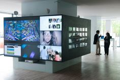 Technology at the Microsoft EU headquarters in Lisbon. Design by 3g Office.