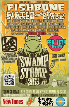 Hey Music Lovers...Swamp Stomp Music Festival returns to South Florida after a 3 year hiatus!