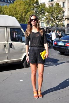 use accessories to add color to your black wardrobe