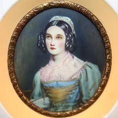 antique miniature ivory portrait