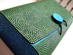 Wooden Clutch Box : Blue and Green Hand painted Upcycled wooden Box