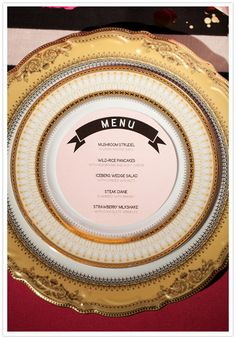 this vintage wedding menu would go nicely with my china
