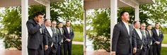 Mackinaw Valley Winery Wedding | Winery Wedding | Yellow Bridesmaids Dresses | Sunflower Bouquet | Caitlin & Luke Photography | Illinois Wedding Photographer | Bloomington Normal Wedding Photographer | Central Illinois Wedding Photographer | Classic, Timeless Wedding | Amazing Groom Reaction