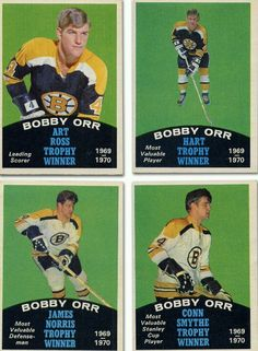 Great set of cards. Hockey Teams, Hockey Players, Ice Hockey, Hockey Stuff, Boston Sports, Boston Red Sox, Hockey Pictures, Bobby Orr, State Champs