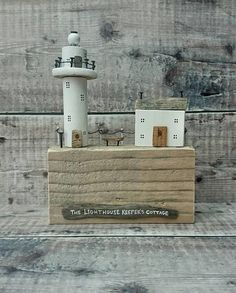 Check out this item in my Etsy shop https://www.etsy.com/uk/listing/550155697/wood-lighthouse-driftwood-house-keepers