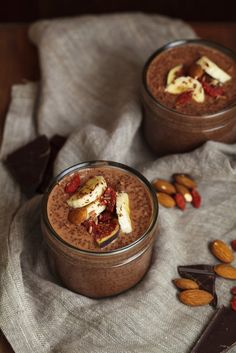 Chocolate Chia Puddings With Banana & Fig Recipe