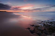 Laatste licht aan het strand van Cadzand-bad
