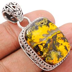 Indonesian Bumble Bee 925 Sterling Silver Pendant Jewelry ECPP533 - JJDesignerJewelry