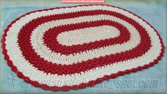 Alfombra  ovalada - Oval Rug #crochet
