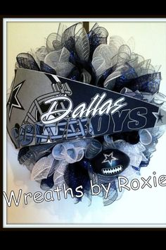 The Bling Queens - Boutique, Crafts, & Dallas Cowboys Wreath, Dallas Cowboys Baby, Cowboys 4, Football Team Wreaths, Sports Wreaths, Grave Decorations, Christmas Decorations, Cowboy Baby, Camo Baby