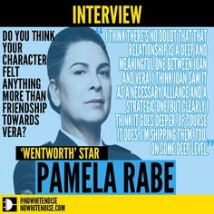 "YOU DON'T RUN THIS INTERVIEW, I DO: 'Wentworth' star Pamela Rabe on Joan ""The Freak"" Ferguson"