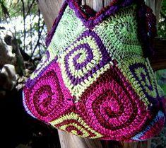 spiral bag crochet pattern...........use translator