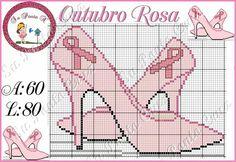 Pink ribbon shoes