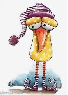 Bird Drawings, Cartoon Drawings, Animal Drawings, Cartoon Art, Cute Drawings, Watercolor Art Paintings, Happy Paintings, Watercolor Cards, Animal Paintings