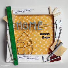 natuerlichkreativ: Gutschein-Keilrahmen Diy Presents, Diy Gifts, Great Gifts, Puff Quilt, Wicker Mirror, Birthday Presents, Creative Gifts, Gift Baskets, Stampin Up