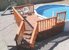 Above Ground Pool Deck Plans   Finding the right deck plans for above ground pools