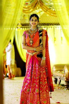 Archna wedding photography. Half Saree Lehenga, Lehenga Style, Sari, Bridal Lehenga, Saree Wedding, Anarkali, Wedding Bride, Half Saree Designs, Lehenga Designs