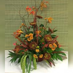 An example of our work. Lovely and seasonal for a tribute, business opening, stage or large event space. Same Day Flower Delivery, Floral Design, Stage, Seasons, Business, Creative, Flowers, Plants, Gifts